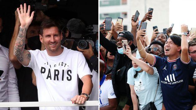 Messi a su llegada a