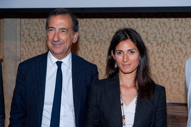 Beppe Sala e Virginia Raggi (Photo by Stefano Montesi - Corbis/Getty