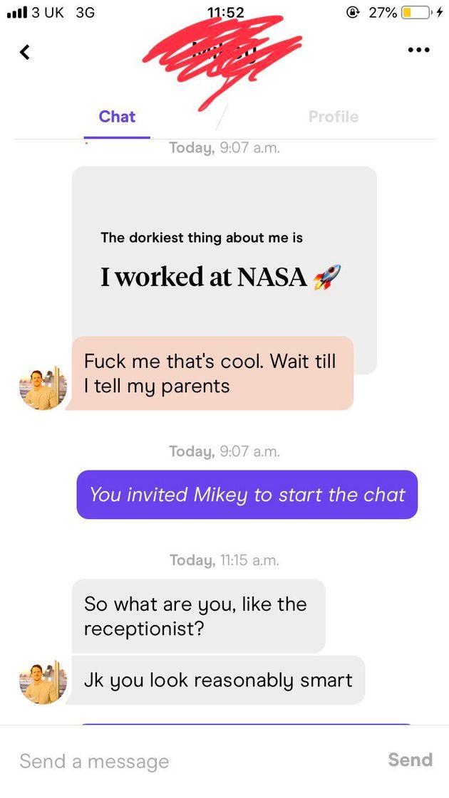 로렌과 남성의 대화
