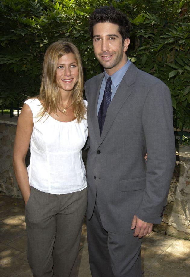 Jennifer Aniston and David Schwimmer pictured in