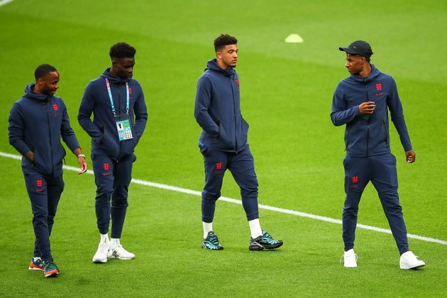 Racist abuse was targeted at England players through social media