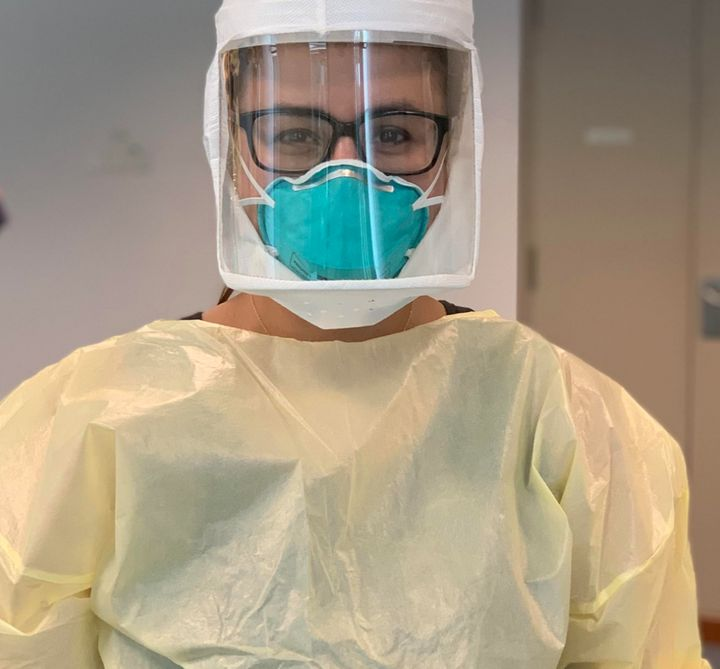 The author wearing personal protective equipment (PPE).