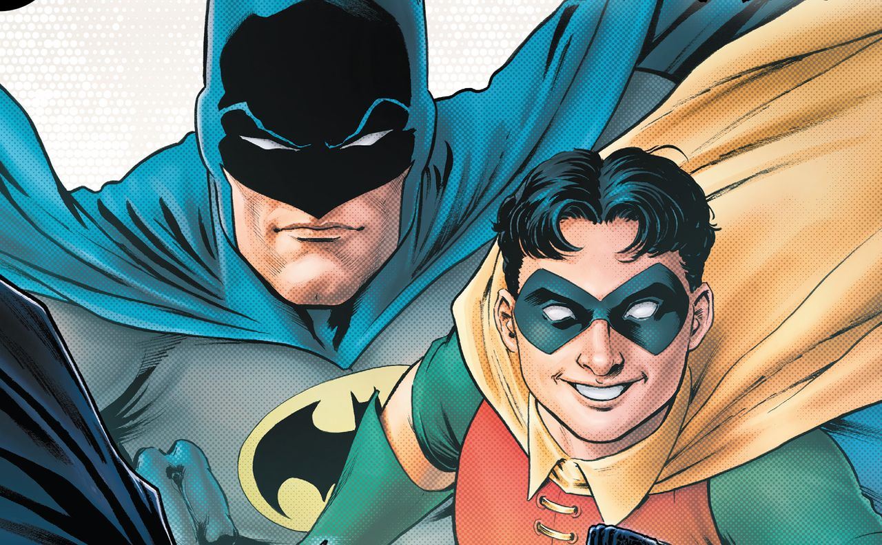 """Batman and Robin on the cover of the latest issue of """"Batman: Urban Legends."""""""