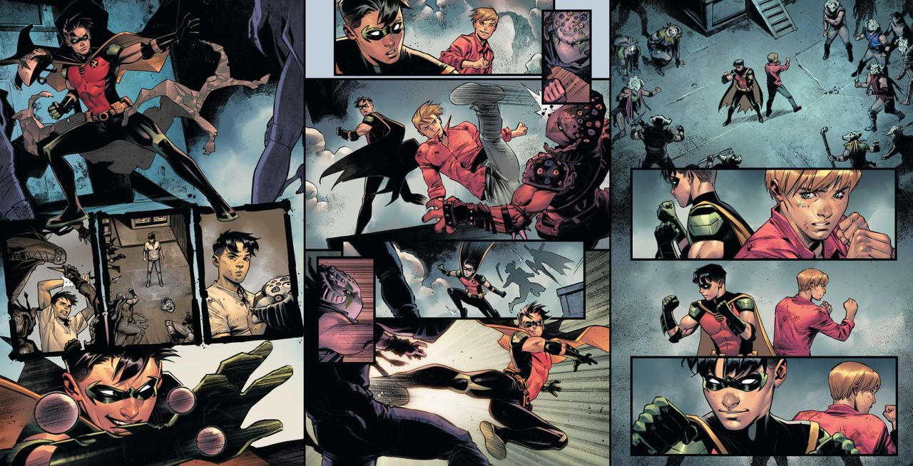 """A panel from DC's """"Batman: Urban Legends"""" anthology series."""