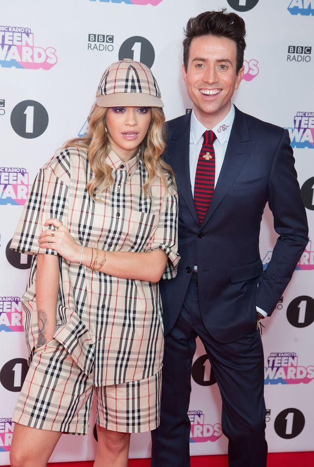 Nick with Rita Ora at the 2017 Teen Awards
