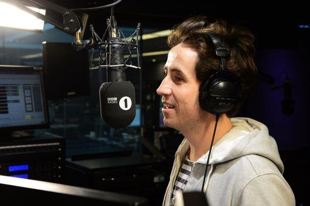 Nick Grimshaw hosting the Radio 1 Breakfast Show in 2013