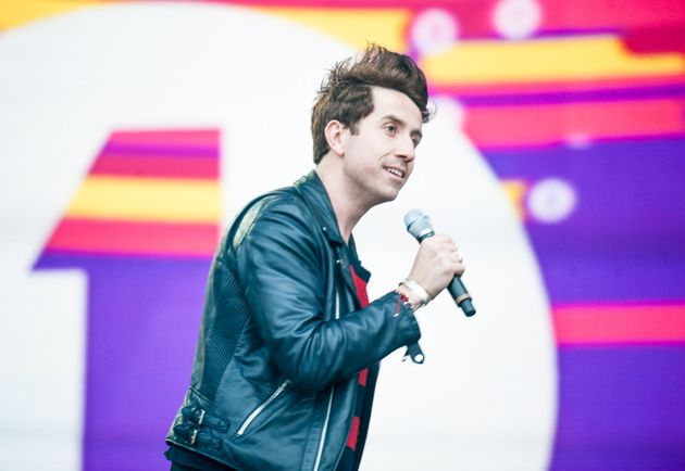 On stage at a Radio 1's Big Weekend