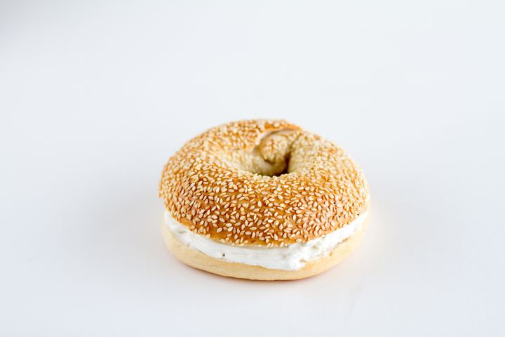 Think this bagel with cream cheese looks plain enough? Think again — those sesame seeds could even be too much for a picky eater.