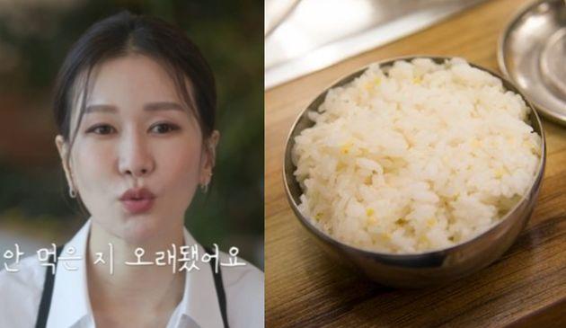 쇼호스트 임세영(좌)/밥 자료