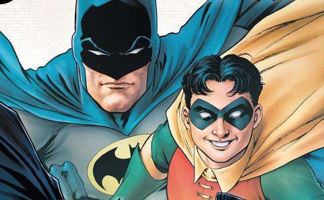 『バットマン:アーバンレジェンズ』の最新刊の表紙に描かれた、バットマンとロビン