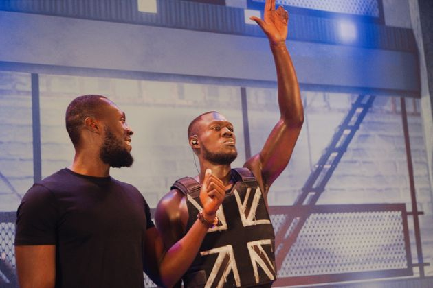 Stormzy poses alongside his wax likeness at Madame Tussauds