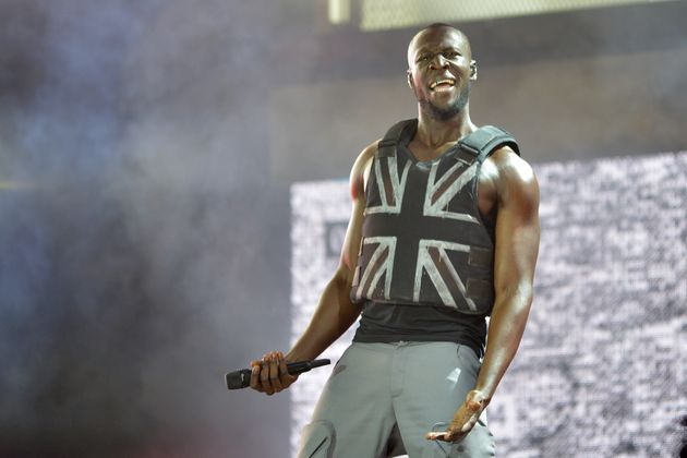 Stormzy (the real one) performing at Glastonbury in 2019