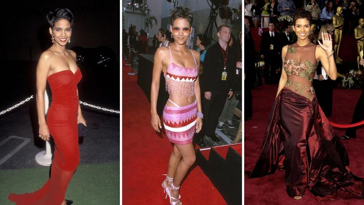 Halle Berry's red carpet style spans more than three decades.