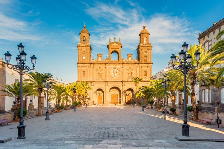 Plaza Santa Ana y Catedral de Gran Canaria en Las Palmas.