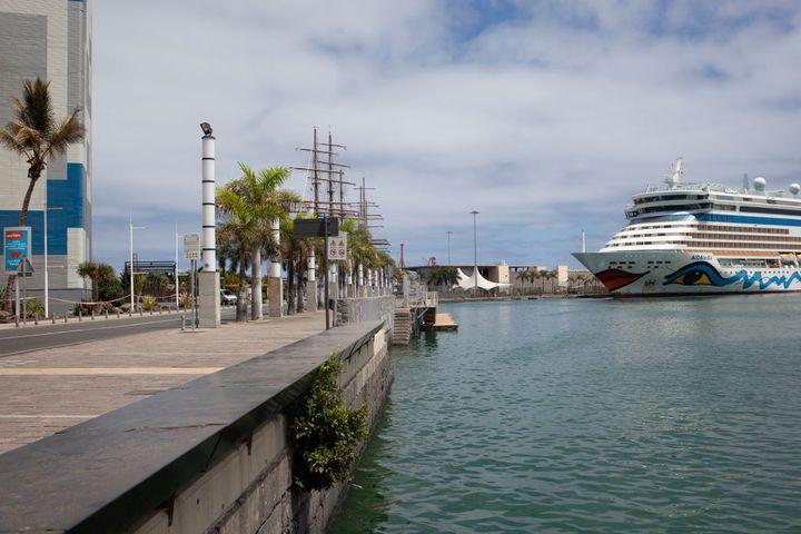 Muelle de Santa Catalina en Las Palmas de Gran Canaria.
