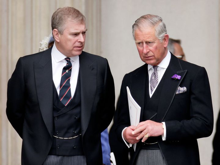 Prince Andrew (left) and Prince Charles (right) in 2012.