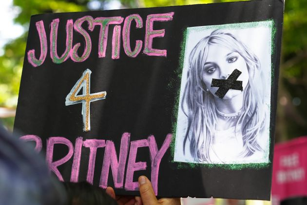 A 'Free Britney' Rally outside the courthouse as a hearing regarding Britney Spears' conservatorship...