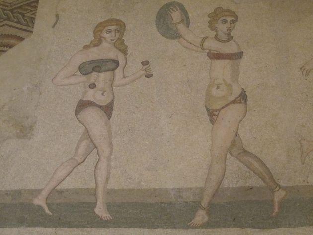 Mosaico Piazza Armerina s VI. a.C. (Sicilia,