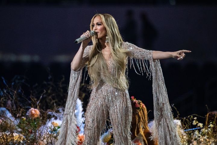 Jennifer Lopez performing in May 2021.