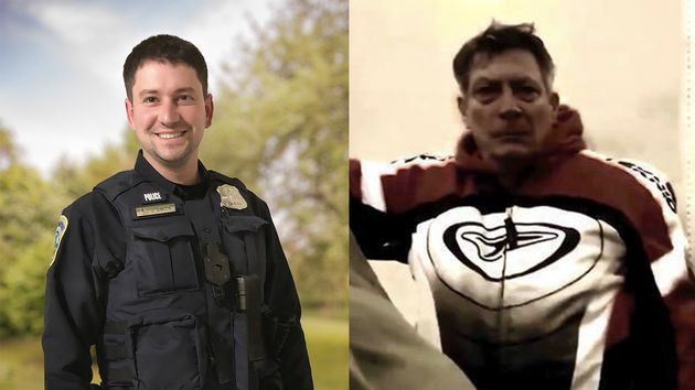 Officer Jeffrey Smith, left, was assaulted on Jan. 6 during a battle that involved the man on the