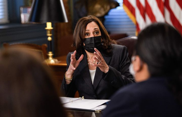 Vice President Kamala Harris host a discussion with Native American community leaders about voting rights on July 27, 2021.&n