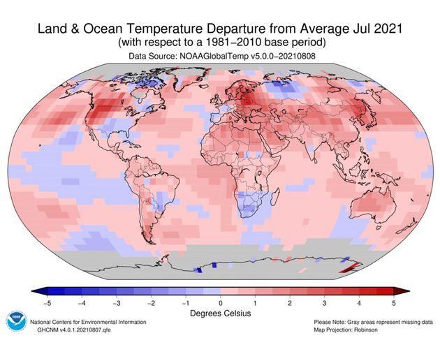 Ο Ιούλιος ήταν ο πιο θερμός μήνας στα