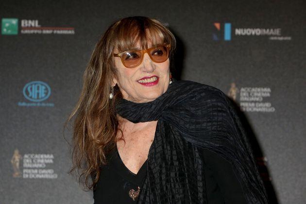 ROME, ITALY - APRIL 18: Actress Piera Degli Esposti arrives at the 60. David di Donatello ceremony on April 18, 2016 in Rome, Italy. (Photo by Elisabetta A. Villa/Getty Images)