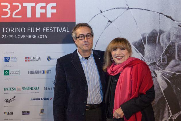 Torino, Italy - 32nd Torino Film Festival, Nov 2014 - in the photo: Mario Sesti director and Piera Degli Esposti actress in the movie 'Senza Lucio' (Photo by Giulia Candussi/Corbis via Getty Images)