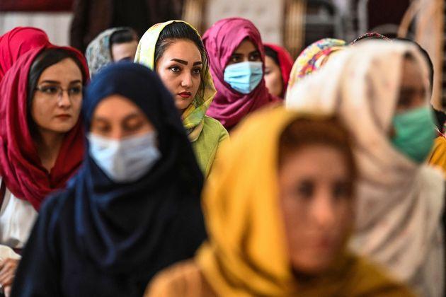 Mujeres en Kabul, capital de Afganistán, el pasado 2 de