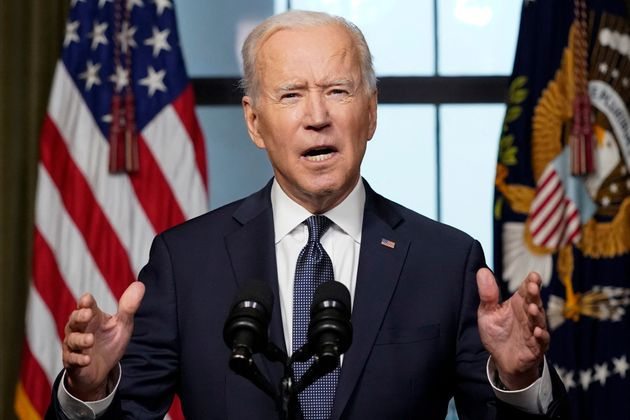 アフガニスタンからの全面撤収をホワイトハウスで宣言するバイデン大統領(2021年4月14日)