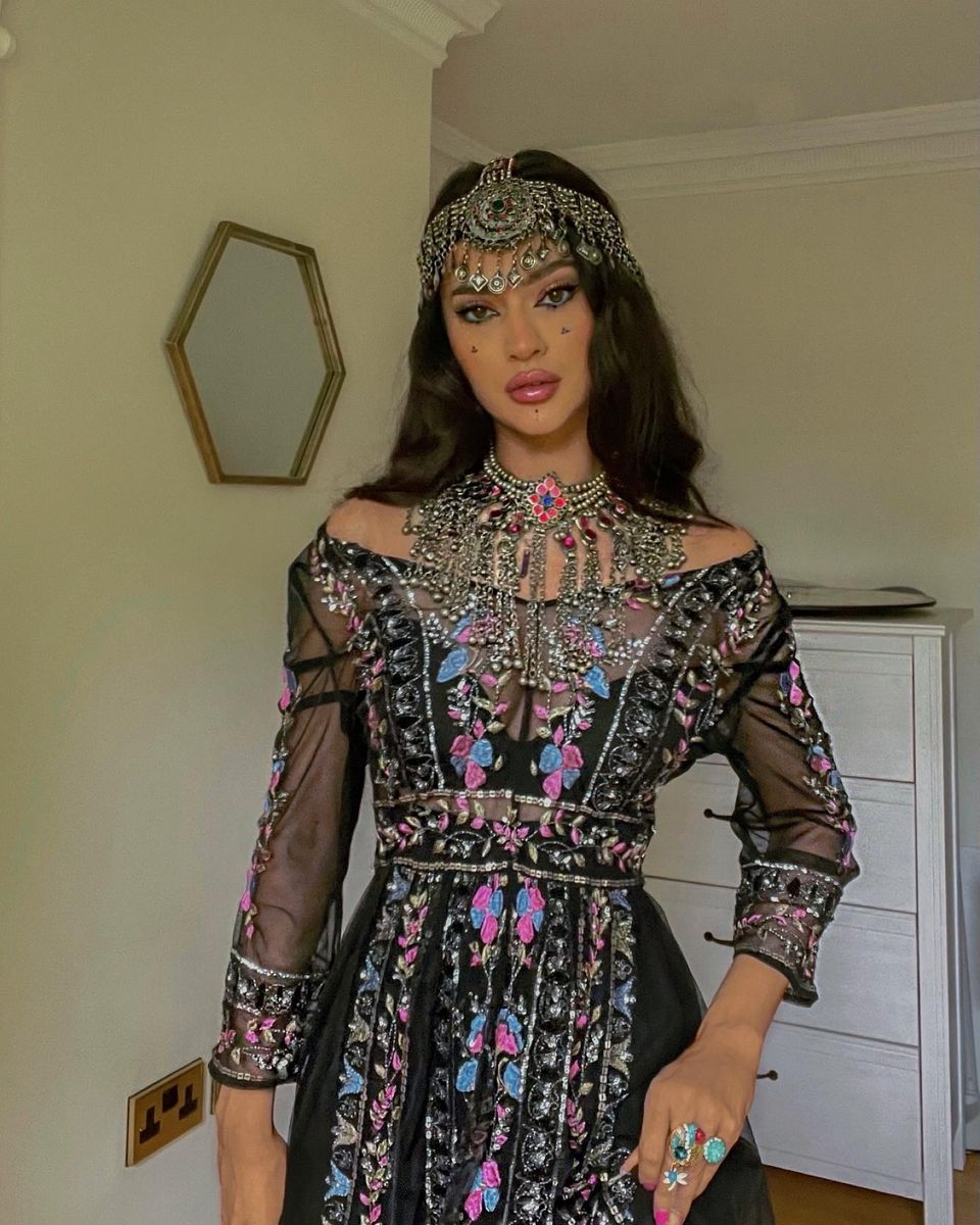 Hammasa is proud of her Afghan
