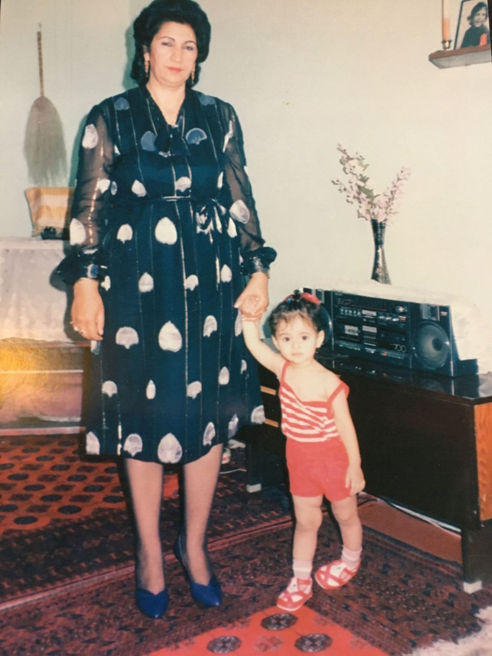 Former Miss England Hammasa with her grandmother in