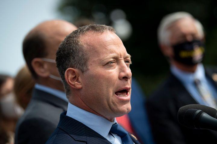 Rep. Josh Gottheimer (D-N.J.) is one of nine moderate House Democrats throwing a wrench in President Joe Biden's legislative