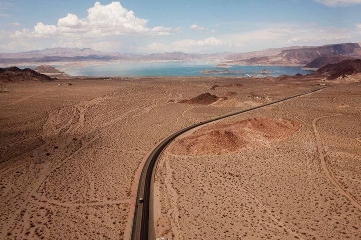 Lake Mead, which makes up part of the Arizona-Nevada border, has extremely low water levels due to drought.