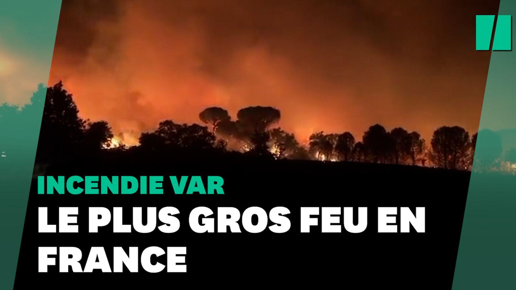 Les images de l'incendie dans le Var, le plus gros en France cet été | Le HuffPost