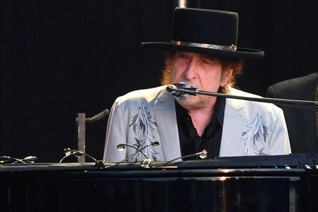 LONDON, ENGLAND - JULY 12: Bob Dylan performs as part of a double bill with Neil Young at Hyde Park on...
