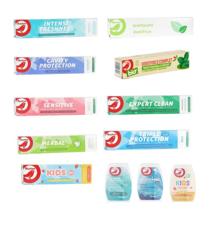 Pastas de dientes de Alcampo.