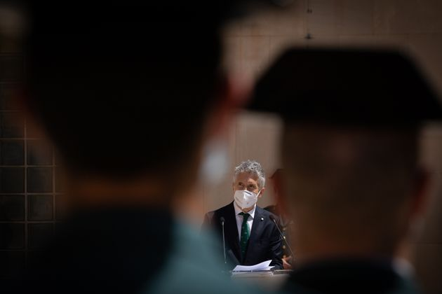 El ministro del Interior, Fernando Grande-Marlaska, en un acto en mayo de