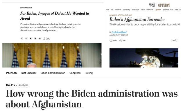 Gli articoli del New York Times, Wall Street Journal e Washington Post