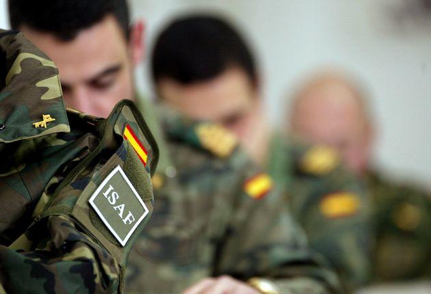 Ingenieros militares, en 2003, preparándose en Burgos antes de ir a