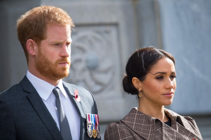 The Duke and Duchess of Sussex visit the then-newly unveiled U.K. war memorial and Pukeahu National War Memorial Park in 2018 in Wellington, New Zealand. The couple is encouraging people to take action to combat the current state of the world.