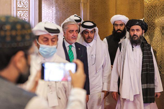Le chef du Haut Conseil pour la réconciliation nationale en Afghanistan, Abdullah Abdullah (à...