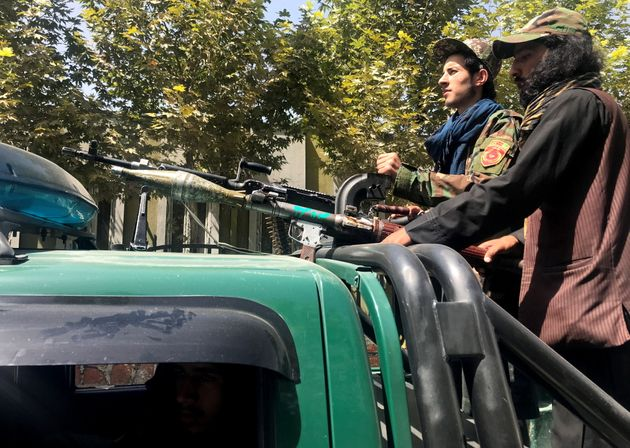 Taliban forces patrol in Kabul, Afghanistan, August 16,