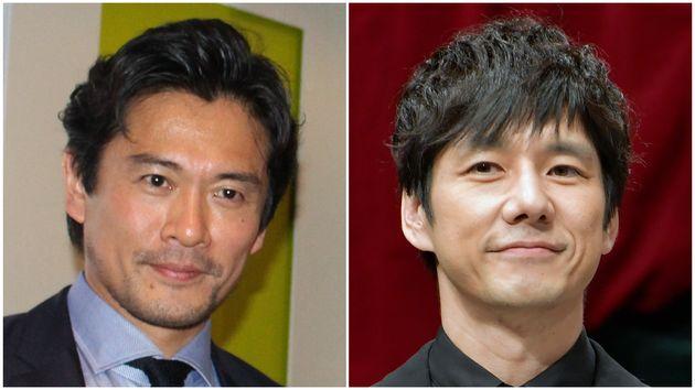 内野聖陽さん(左)と西島秀俊さん(右)