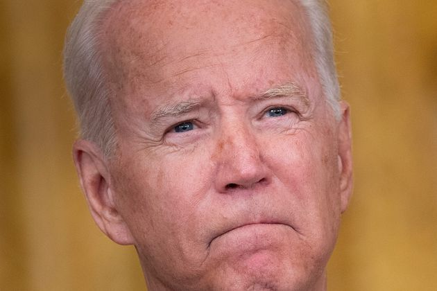 TOPSHOT - US President Joe Biden speaks about the Taliban's takeover of Afghanistan from the East Room...