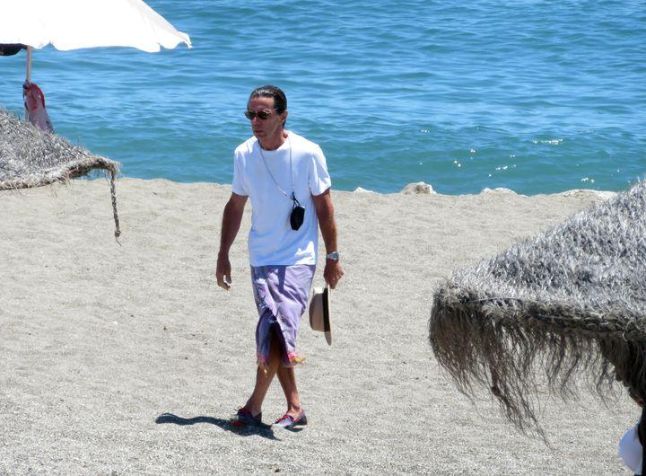 Aznar, en una playa de Marbella