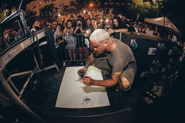 El artista Mark Ríos.