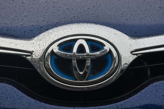 A Toyota logo seen on a parked car in Dublin city center. On Tuesday, January 11, 2021, in Dublin, Ireland. (Photo by Artur Widak/NurPhoto via Getty Images)
