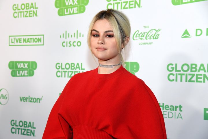 Selena Gomez attends the Global Citizen Vax Live: The Concert To Reunite The World in May.