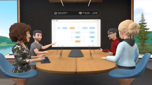 A look at Facebook's Horizon Workrooms virtual reality